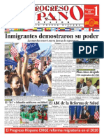 Marcha de inmigrantes en la capital