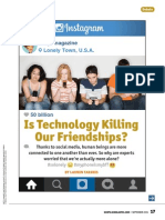 is technology killing our friendships