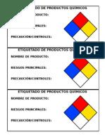 Etiquetado de Productos Químicos