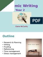 Academic Writing - 2nd Years