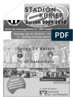 21. Spieltag - Ausfall Hockenheim