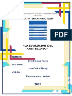 Monografia de La Evolucion Del Castelllano