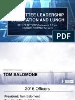 2015 Committee Leadership Orientation PowerPoint