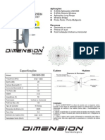 Antena Disco 29dbi Dimension - Dim-5800-29d