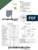 Antena Disco 33dbi Dimension - Dim-5800-33d