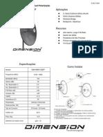 Antena Disco 33dbi Dual - Dim-5800-33dp