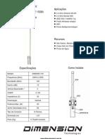 Antena Omni 2.4ghz Dimension - Dim-2400-15v