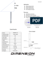 Antena Omni 5.8ghz Dimension - Dim-5800-15v