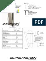 ANTENA SETORIAL 2.4GHZ 14DBI 90º DIMENSION - DIM-2400-1490V