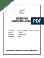 1. Format Pencairan BLM Lanjutan 2014 Tahap 2 35% Lebakjaya
