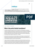 What is the Perfect Android Smartphone