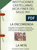 Instituciones castellanas, historia del derecho colombiano