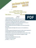 Intermediate Model Paper