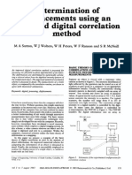 Sutton, 1983, Determination of Displacements Using an Improved Digital Correlation Method