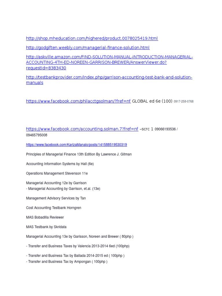 current rh scribd com solution manual test bank shop Manual Casio Databank