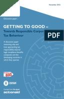 Getting to Good: Towards responsible corporate tax behaviour