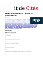 Franck Scurti Sur WebSYNradio