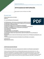 LOS CERTIFICADOS de PARTICIPACION