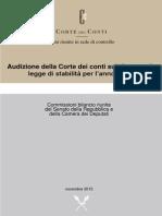 CORTE DEI CONTI 2015 GIUDIZIO SUL PATTO DI STABILITA' 2016