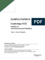 S1 Sample Paper