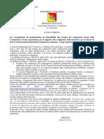 VIA VAS 2015 REGIONE AVVISO PUBBLICO PER COSTITUZIONE COMMISSIONI
