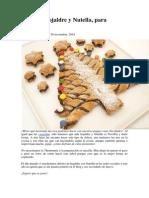Arbol Hojaldre y Nutella Para Navidad