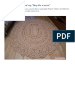 _ Description of the Oval Rug _May the Miracle_ - All in Openwork ..
