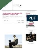 42 Trucos Útiles Para Que Seas Más Competitivo Si Trabajas Solo - Crea Tu Empresa - Emprendedores - Webs