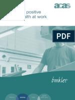 promoting positive mental health at work sept2014