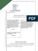 Amended Lawsuit Complaint