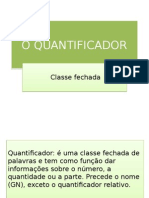 O Quantificador (1)