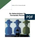 Fernando Pessoa Heterónimos