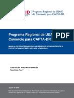 CAFTA-DR_Manual de Procedimientos Imp Exp Para Honduras_Ago