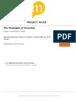 The Strategies of Terrorism