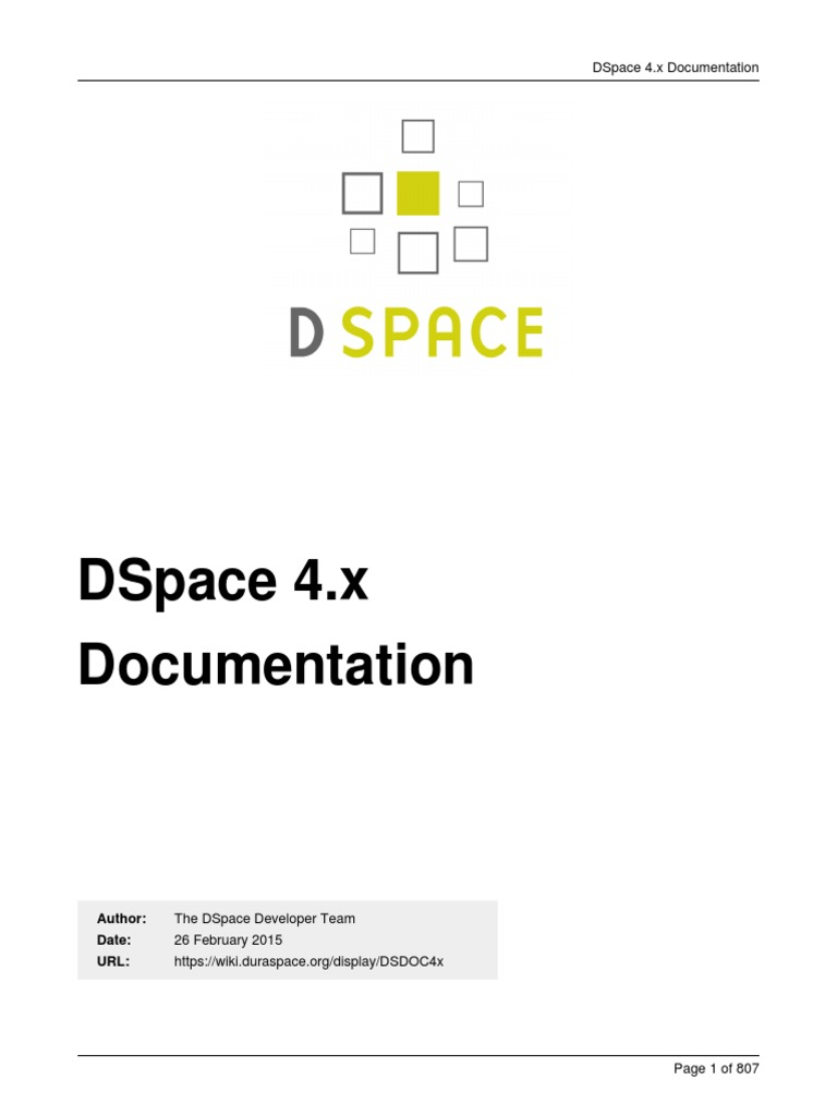 DSpace Manual | Application Programming Interface | Digital