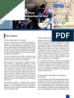 Política alimentaria del Perú - BOLETIN N° 1