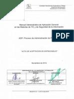 ADP Acta de Aceptacion de Entregables