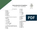 Autoevaluación de Logaritmos Mat B 4º ESO