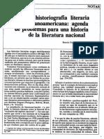 La Historiografia Literaria Latinoamericana