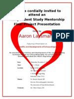 final project invitation