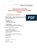 Lectie Sistemul Preturilor in Romania Sistemul Informational 2014 2015