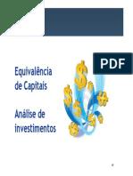 Análise de Projetos de Investimentos (Técnicas)