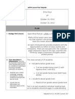 reading field lesson plan