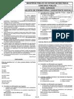 Ibfc 2011 Mpe Sp Analista de Promotoria Assistente Social Prova0