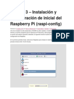 configuracion de La Raspberry Pi