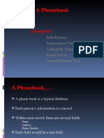 Maintain a Phonebook