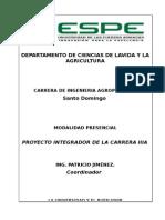 Proyecto Integrador IIIA. CACAO