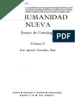 Gonzalez Faus Jose Ignacio La Humanidad Nueva Ensayo de Cristologia 02 Afr St Presencia Teologica