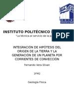 Hipótesis y Corrientes de Convección