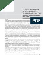 El Significado Histórico de La Reforma de La Atención de Salud en Chile